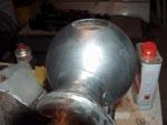 Restauration de sphère usée