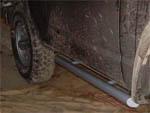 Marches-pieds tubes fixés au chassis